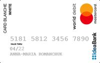 Ідея Банк Card Blanche Online